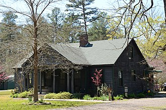Ashley County, Arkansas - Residence at the Experimental Forest built by the CCC, now listed on the NRHP