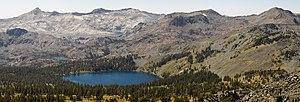 Crystal Range - Crystal Range and Gilmore Lake from Mount Tallac