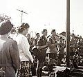 Cserkészek imádkoznak a Kelenföldi pályaudvaron, 1939. Fortepan 92368.jpg