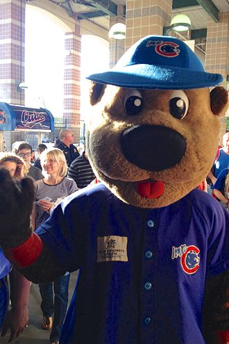 Iowa Cubs - Cubbie Bear, the Iowa Cubs mascot