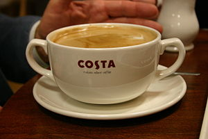 Cup of Costa coffee.