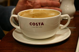 Costa Coffee - Coffee served in a Massimo cup.