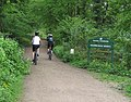 Cyclists through Highmeadow Woods - geograph.org.uk - 796319.jpg