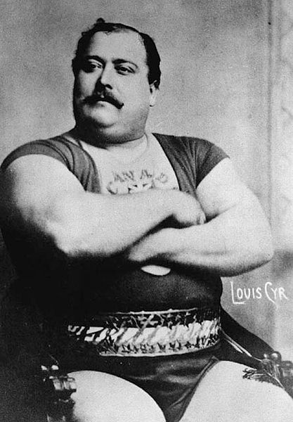 photograph of Louis Cyr (c. 1890) – Strongest Man in History