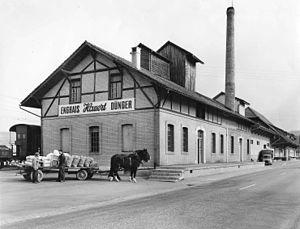 Grossaffoltern - Hauert's fertilizer factory around 1960
