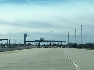 Delaware Route 1 - The Biddles Corner mainline toll plaza, with high speed E-ZPass lanes
