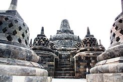 DSC00096 Java Centre Borobudur Stupas and Temple (6219572675).jpg