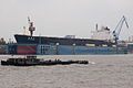 Da Luo Shan bulk carrier , and floating drydock, Huangpu River, Shanghai,.jpg