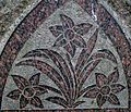 Daffodil symbolism on gravestone, St Columba's, Stewarton, East Ayrshire, Scotland.jpg