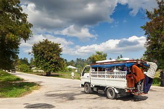 Dala dala - A dala dala on a rural road in Zanzibar.