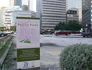 Pacific Plaza Park - Image: Dallas Future Site of Pacific Plaza