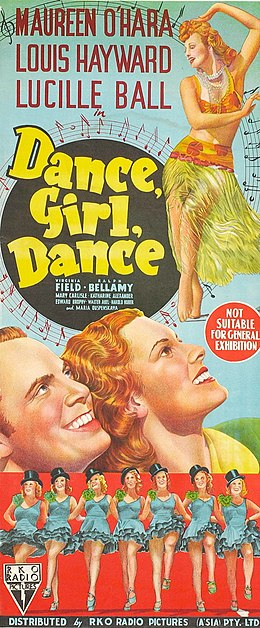 Dance, Girl, Dance (1940 film poster - three-sheet).jpg