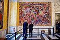 Danish Prime Minister Rasmussen Shows Secretary Kerry the Queen's Tapestries at the Christiansborg Palace in Copenhagen (27449319220).jpg