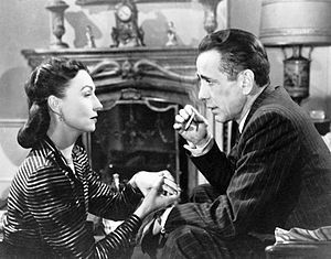 Dark Passage (film) - Agnes Moorehead and Humphrey Bogart in Dark Passage