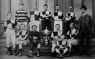 Darlington F.C. - The 1887 team posing with the Cleveland Challenge Cup