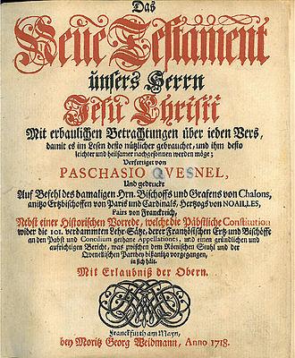 Moritz Georg Weidmann - New Testament published by Weidmann in 1718