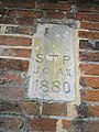 Date stone on a wall in Symonds Street - geograph.org.uk - 1546482.jpg