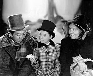 David Copperfield (1935 film) - Herbert Mundin, Freddie Bartholomew and Jessie Ralph in David Copperfield