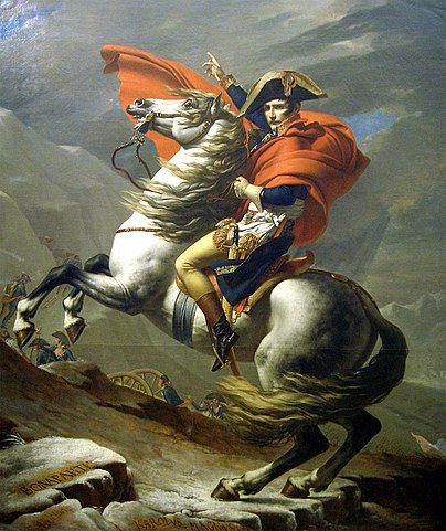Наполеон на перевале Сен-Бернар. Давид (1803)