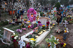 Day of the dead at mexican cemetery 4