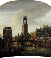 De Gaardbrug te Utrecht vanuit het zuiden (deurstuk)