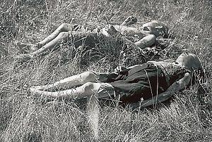 Finnish civilians killed by Soviet partisans at Seitajärvi in Finnish Lapland 1942