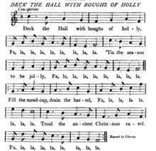 melody of deck the hall from john hullah the song book 1866