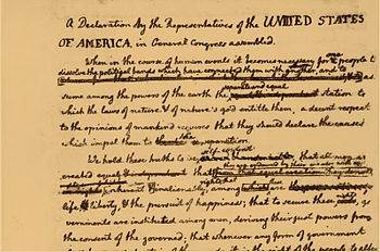 Declaration of Independence draft (detail with...