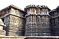 Decorated outer walls Hoysaleswara Temple Halebid (11).jpg