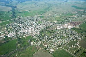 Deer Lodge, Montana - Image: Deer Lodge MT aerial