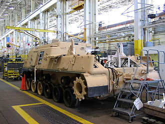 Albany, Georgia - An M88 Recovery Vehicle at the Marine Corps Logistics Base Albany undergoes depot maintenance in 2005.