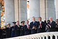 Defense.gov News Photo 101111-A-0193C-007 - Rep. John A. Boehner 2nd from right Secretary of Defense Robert M. Gates right and other Defense officials render honors during a Veteran s Day.jpg