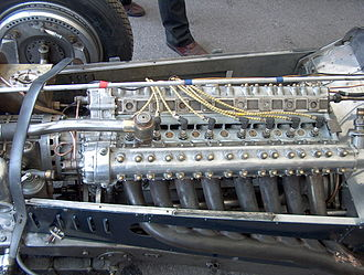 Straight-eight engine - Delage straight-eight racing engine