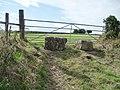 Deliberately blocked field gate, Upper Field Lane - geograph.org.uk - 2592768.jpg