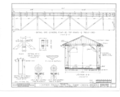 Detail One Quarter Plan of Top Beams and Truss Cord, Detail at C, Section DD, Details - Covered Bridge, Spanning Darby Creek, North Lewisburg, Champaign County, OH HABS OHIO,80- ,2- (sheet 3 of 3).png
