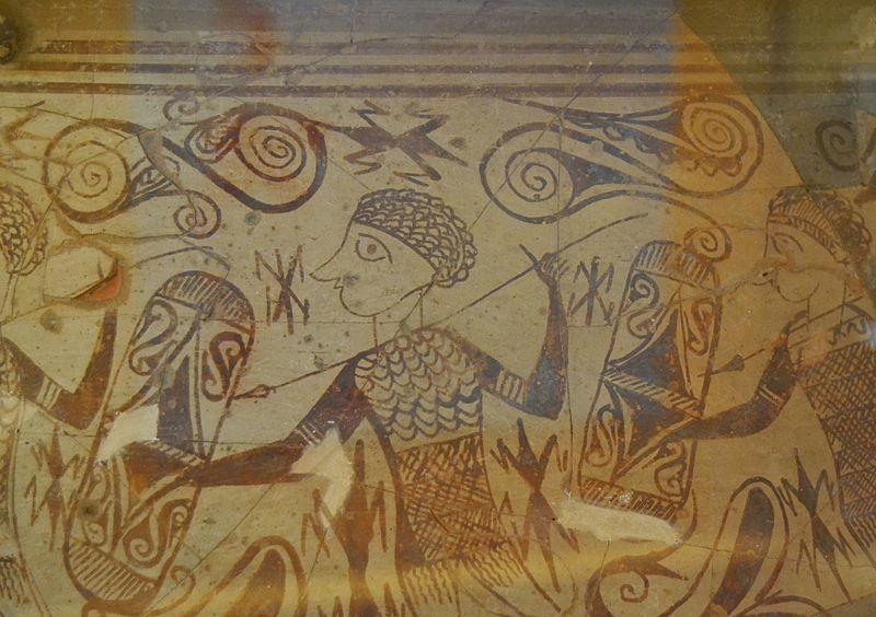 File:Detall del vas dels guerrers, Edeta - Tossal de sant Miquel, Museu de Prehistòria de València.JPG