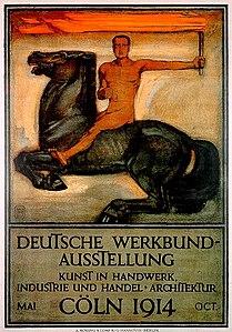 Deutsche Werkbund-Ausstellung Kunst in Handwerk, Industrie und Handel Architektur K%C3%B6ln 1914 Oct. Peter Behrens A. Molling %26 Comp. KG Hannover Berlin