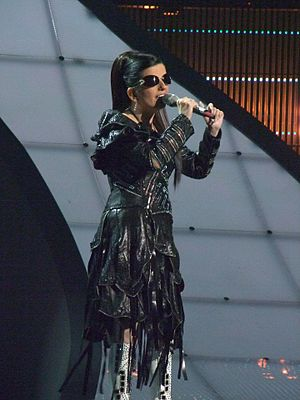 Georgia in the Eurovision Song Contest - Image: Diana Gurtskaya, Georgia, Eurovision 2008, 2nd semifinal