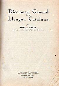 Diccionari General de la Llengua Catalana cover