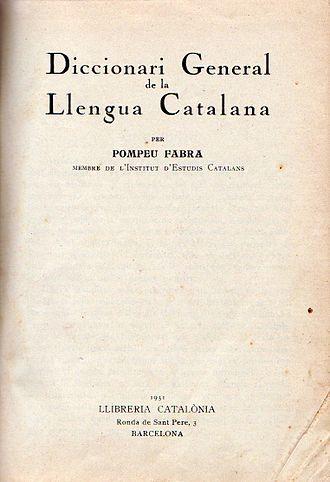 Diccionari General de la Llengua Catalana - Image: Diccionari general de la llengua catalana