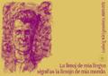 Die Grenzen meiner Sprache bedeuten die Grenzen meiner Welt. Ludwig Wittgenstein, 1889-1951 -eo.png