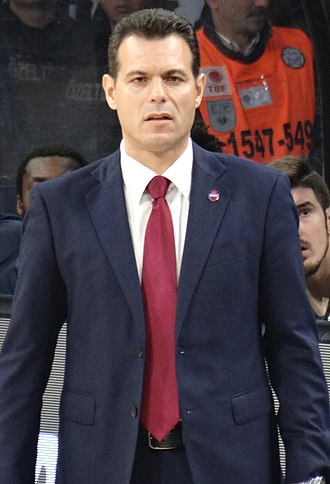 Dimitrios Itoudis - Itoudis at the game between Anadolu Efes and CSKA Moscow, in November 2017.