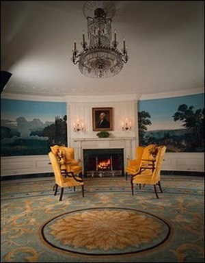 Executive Residence - The Diplomatic Reception Room on the Ground Floor of the White House.