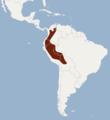 Distribution of Dinomys branickii.png