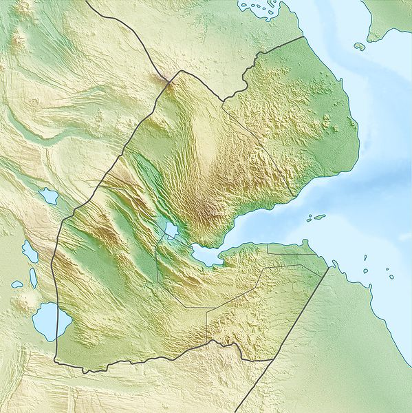 Topografie Dschibutis