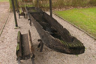 Vehicle - A Slavic dugout boat from the 10th century