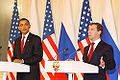 Dmitry Medvedev with Barack Obama 6 July 2009-8.jpg