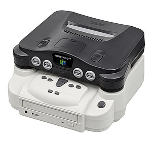 Doctor V64 - The Doctor V64 attached to an N64.