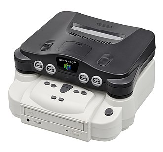 Game backup device - Doctor V64 installed in a Nintendo 64.