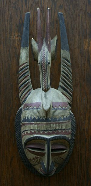 Bambara people - Bambara mask with a stylistic representation of an antelope, National Gallery for Foreign Art